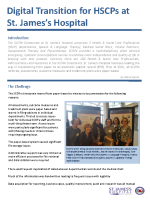 Digital Transition for HSCPs at St. James's Hospital front page preview